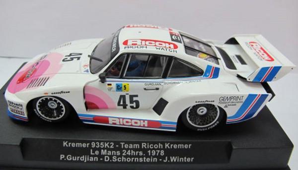 Slotcar 1:32 analog SIDEWAYS 935 K2 Turbo Le Mans 1978 No. 45