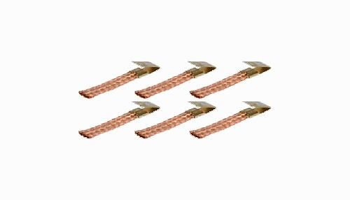 Stromabnehmer QRC 4,0x0,8mm Kupfer soft m.Schnellmontageclips