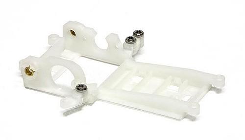Motorhalter Slot.it V12 Sidewinder EVO6 m.Hinterachsträger Offset 1mm Kunststoff f.Slotcars 1:32