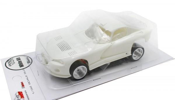 Slotcar 1:32 analog Bausatz REVOSLOT GTS-R White Kit
