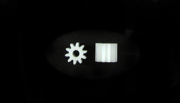 Motorritzel 10Z M50 Plastik f.Ø2,0mm
