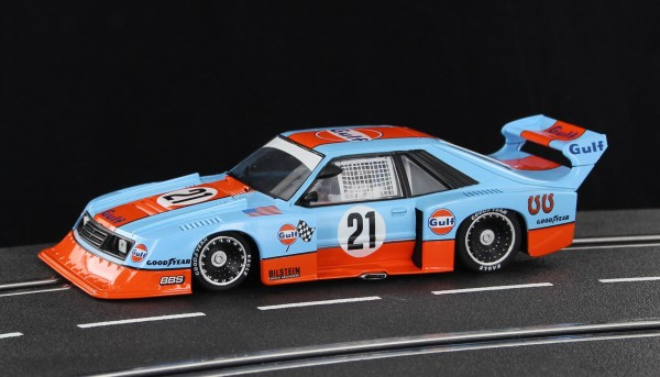 Slotcar 1:32 analog SIDEWAYS Mustang Turbo No. 21 Edition