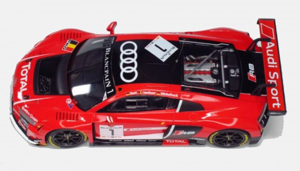 Standmodellbausatz 1:24 NUNU Audi R8 LMS GT3 Spa 2015 No. 1