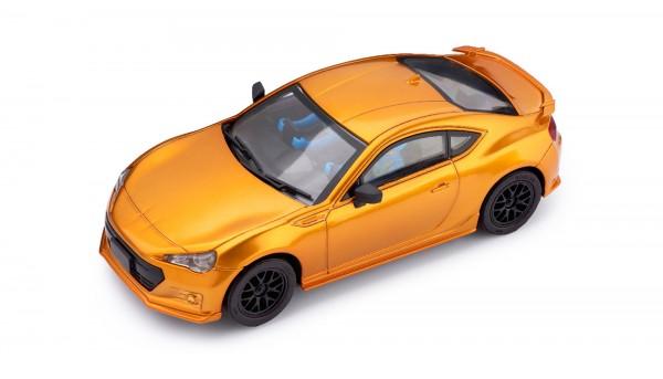 Slotcar 1:32 analog POLICAR Home Racers BRZ GT orangemetallic m.Licht