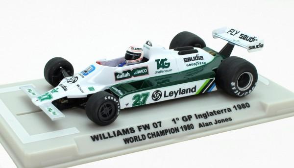 Williams FW07B F1 Grand Prix Inglaterra 1980 #27