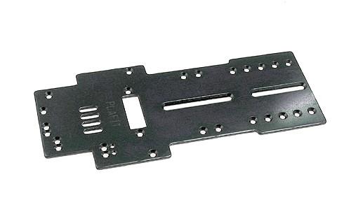 Fahrwerk PLAFIT P3 Super 24 Grundplatte 106,5x1,5mm Messing f.Slotcars 1:24