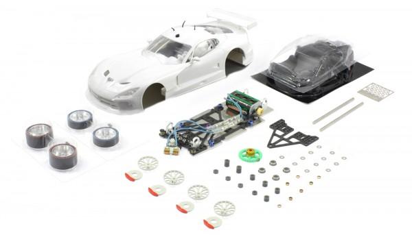 Slotcar 1:24 analog Bausatz SCALEAUTO Racing-RC2 Competition GTS-R White Kit