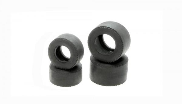 Reifensatz-Set 27 vorne u.hinten (Ø19,5x10,5mm-Ø22,0x14,0mm) Spezialgummi-Slicks f.Series 4