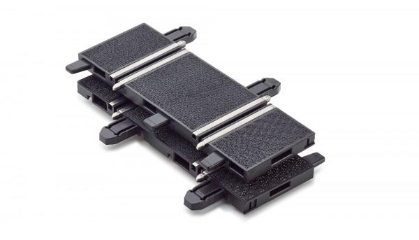 Übergangsgerade 1:32 POLICAR 61,4mm Racing Track System inkl.Apdater zur Verbindung m.FLEISCHMANN u.POLISTIL-Autorennbahnen 1:32 f.Slotcars 1:32