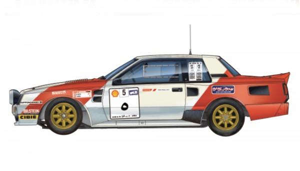 Standmodellbausatz Toyota Celica TA64 Team Belga oder Marlboro Rallye Haspengouw 1985 No.1 & No. 5