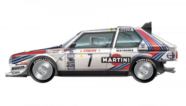 Standmodellbausatz Lancia Delta S4 Team Martini Rallye Monte Carlo 1986 No. 7