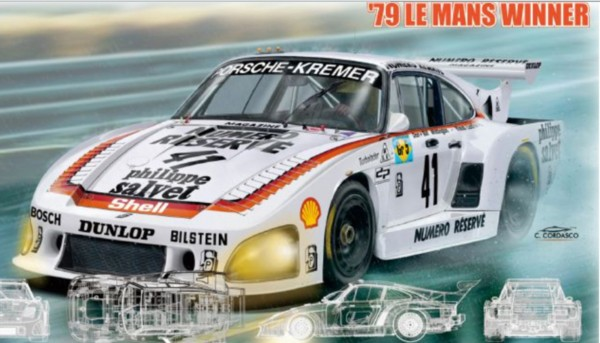 Standmodellbausatz 1:24 NUNU Porsche 935 K3 Le Mans 1979 No. 41