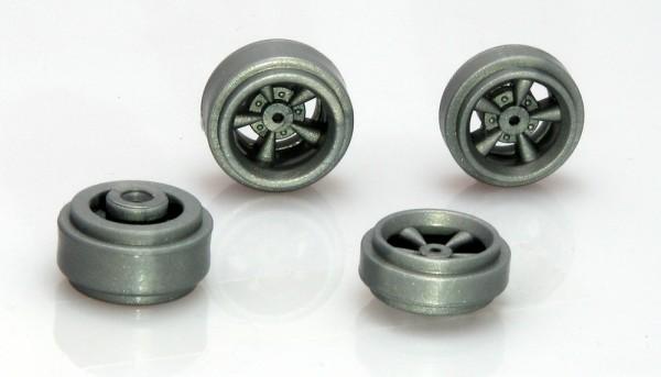 Felgensatz-Set B+C f.Ø2,38mm Plastik silbergrau