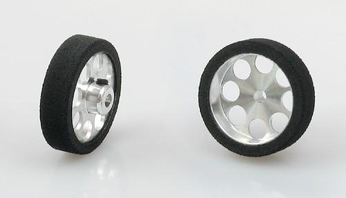 Räder Pro Hard Ø25,2x7mm f.Ø3mm Moosgummi hart m.Ø20mm Alufelge u.Innensechskant