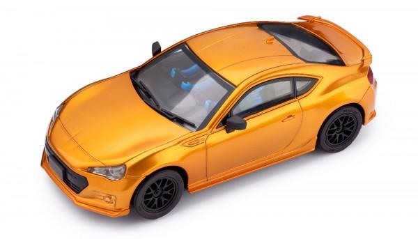 Slotcar 1:32 analog POLICAR Home Racers BRZ orangemetallic m.Licht