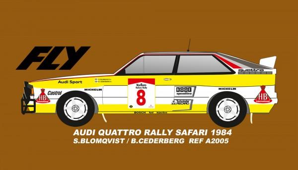 Slotcar 1:32 analog A2 Rallye Safari 1984 No. 8