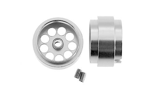 Felgen Ø15x10mm Light Aluminium gelocht m.Außenhump f.Ø2,38mm