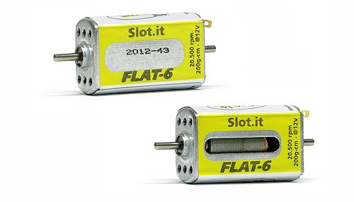 Motor Slot.it Flat-6/20k (20500U@12V) Flat-Can f.Slotcars 1:32 GT/LMP