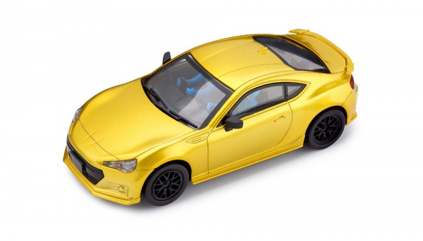 Slotcar 1:32 analog POLICAR Home Racers BRZ GT yellowmetallic m.Licht