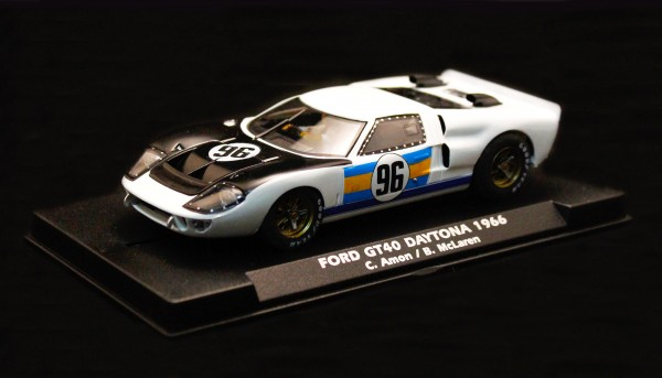 Slotcar 1:32 analog FLY GT40 MkII Daytona 1966 No. 96