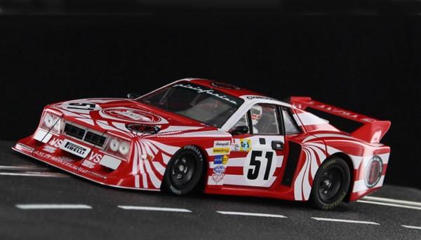 Slotcar 1:32 anlog SIDEWAYS Beta Montecarlo Gr.5 L Le Mans 1981 No. 51 1:32