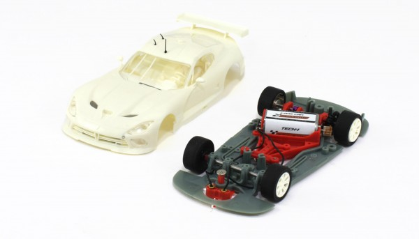 Slotcar 1:32 analog Bausatz SCALEAUTO Racing-R GTS-R White Kit