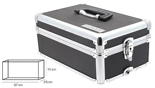 Slotcar-Transportbox Black Series 370x250x160mm Aluminium m.separatem Deckel u.Haltegriff