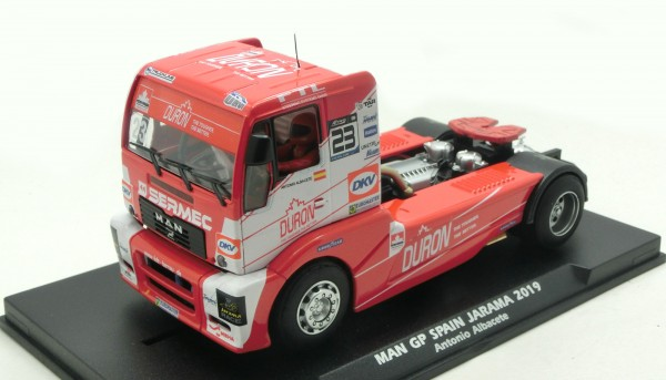 Slotcar 1:32 analog FLY MAN Renntruck Grand Prix Spain 2019 No. 23