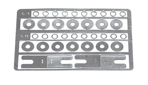 Achsdistanzen Slot.it 0,1mm u.0,25mm Metall f.Slotcars 1:32
