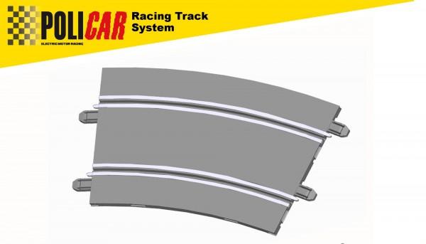 Kurve Radius 4/22,5° f.Autorennbahn 1:32 POLICAR Slotcar Racing Track System