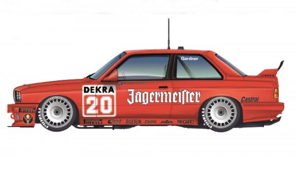 Standmodellbausatz BMW M3 E30 Team Fina oder Jägermeister DTM 1992 No. 7 & No. 20