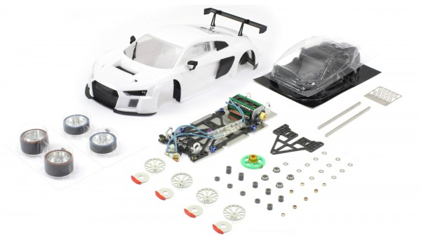 Slotcar 1:24 analog Bausatz SCALEAUTO Racing-RC2 Competition LMS Evo GT3 White Kit