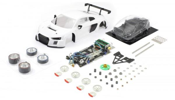 Slotcar 1:24 analog Bausatz SCALEAUTO Racing-RC2 Competition LMS Evo GT3 White Kit