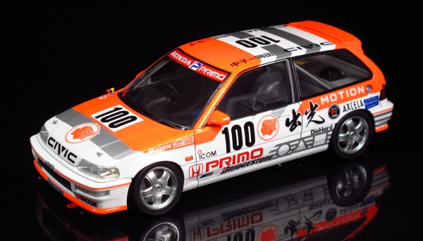 Standmodellbausatz 1:24 BEEMAX Honda Civic EF 9 Group A 1992 No. 100