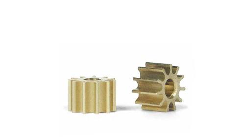 Motorritzel 10Z Ø5,5mm Messing f.Ø2mm