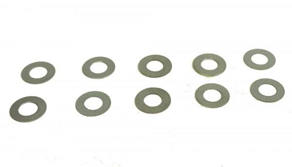 Distanzen BRM 0,1mm f.Ø3mm Achsen Stahl f.Slotcars